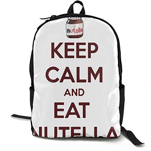 Keep Calm and Eat Nutella Laptop-Rucksack für 38,1 cm (15 Zoll) Laptops, lässiger Rucksack, geeignet für Business, Reisen, Schule, Damen, Herren