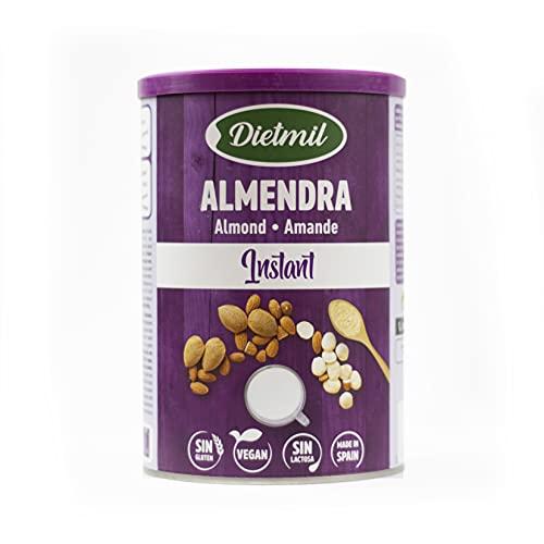 Dietmil, Bebida Vegetal Ecológica, Leche en Polvo de Almendras Bio, Sin Azúcares añadidos-400 g, No aplicable, Mediano, 400