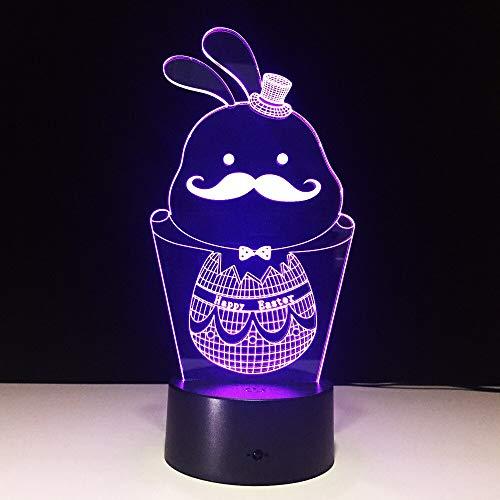 3D mesa pequeña USB arte multicolor luz nocturna LED lámpara de mesa...