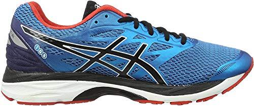 Asics Gel-Cumulus 18, Zapatillas de Running para Hombre, (Island Blue/Black/Vermilion), 50.5 EU