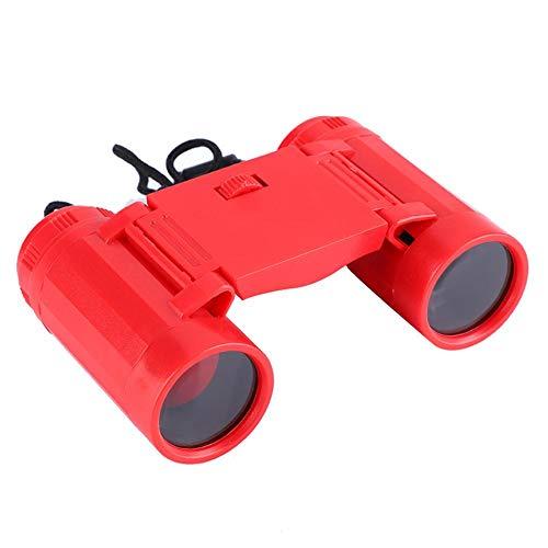 Vbestlife verrekijker voor kinderen, Vbestlilife speelgoedtelescoop, het optimale cadeau voor kleine avonturiers. Eenvoudig te dragen en voor het observeren van dieren, landschappen en sterren., rood