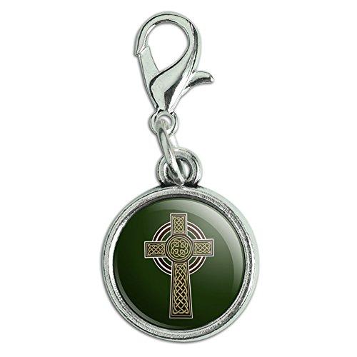 GRAPHICS & MORE Celtic Christian Cross Irish Ireland Antiqued Bracelet Pendant Zipper Pull Charm with Lobster Clasp