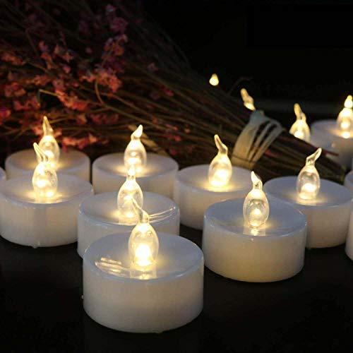 Tappovaly Tea Lights, 50 Pack Flameless LED Candles Battery Operated Tea Lights Candles Long Lasting Tealight for Wedding Holiday Party Home Decoration (Warm White)