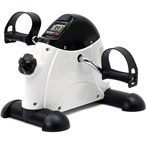 DECELI Under Desk Bike Pedal Exerciser - Portable Mini Exercise Bike for Arm/Leg Exercise, Mini Exercise Peddler with LCD Display(White)