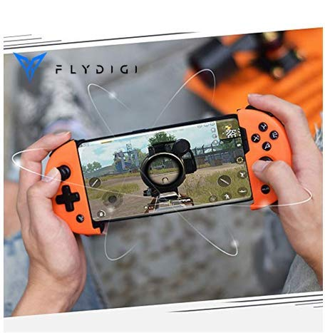 Flydigi Wee2T Mobile Game Controller Telescopic for Android of MOBA, Unique Tensile Design, Compatible with The Mobile of 3.5-6.3 Inch (75-165mm). Not Support iOS 13.4 and Above