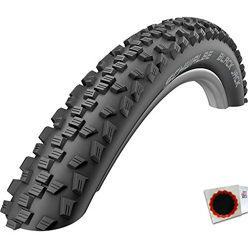 Schwalbe Black Jack 16 X 1.90 Wired Tyre with Puncture Protection Black- Skin 360g (47-305)