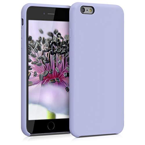 kwmobile Hülle kompatibel mit Apple iPhone 6 Plus / 6S Plus - Handyhülle gummiert - Handy Case in Pastell Lavendel