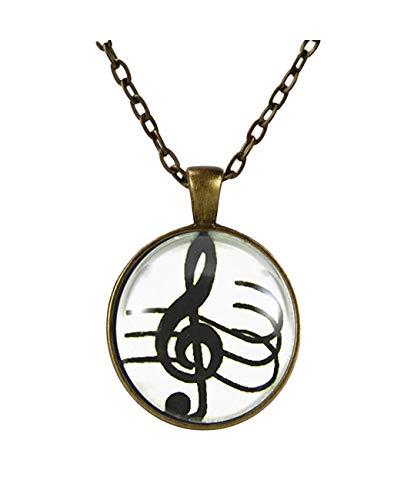 heng yuan tian cheng Splendid Collar de Clave de Sol con símbolo...