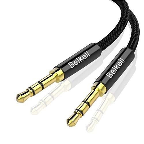 Beikell Aux Kabel, Audio Kabel, 3.5mm Klinkenkabel für Kopfhörer, iPhones, iPads, MP3 Player, Stereoanlage, Echo Dot und Mehr - 1.2M