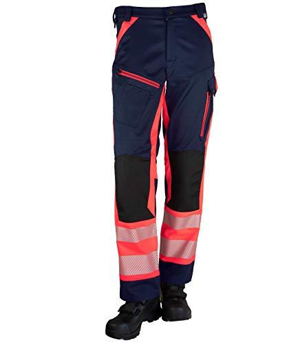 GSG build to protect Magnus II ISO20471 - Pantalones de seguridad reflectantes (clase 1) rojo/azul marino 3 mes