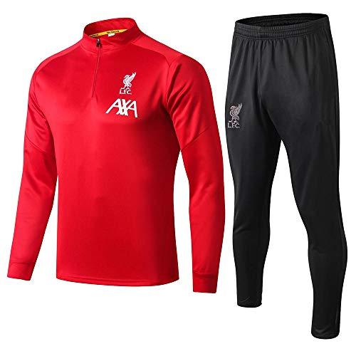 XunZhiYuan Liverpool Fußball-Trainingsanzug mit Langen Ärmeln Anzug für Sportbekleidung für Erwachsene Jersey @ 2_S