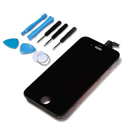 LL TRADER Für iPhone 4 Schwarz LCD Display Touchscreen Bildschirm Ersatz mit Werkzeug und Vorder komplett Glas
