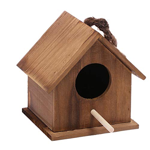 Jaulas de pájaros Pet Wood Amaraket Duradero Cría Nessing Bird Aviary Caja de Jaula 16.5x13.5x14.5cm Fácil de Limpiar Birdcage de Jaula de pájaros (Color : Brown)