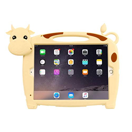 Silicon Case for IPad 7th 10.2 Inch A2200 A2198 A2232 Kids Safe stand Cow Tablet cover for Ipad Pro 10.5 ipad Air3 10.5 Cover-case with strap_For IPad Air 3 10.5