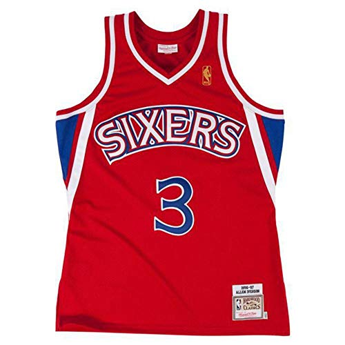 Mitchell & Ness - Maillot NBA Allen Iverson Philadelphie Sixers 2000-01 Home Road Hardwood Classic Swingman Blanc Taille - M