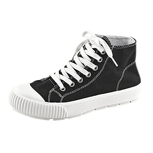 Zapatillas Mujer Casual Deportivas Caminar para Mujer Slip on Calzado de Uela Blanda Transpirable Deporte Zapatos de Correr Running Sneakers Ligeras Zapato Zapatillas(A36_Black,40)