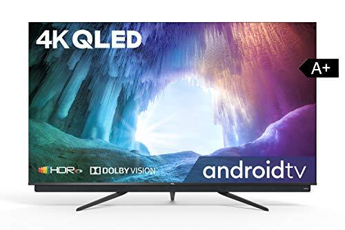 TCL 55C815 QLED-Fernseher (55 Zoll) Smart-TV (4K Ultra HD, HDR 10+, Triple Tuner, Android TV, Dolby Vision Atmos, ONKYO-Audiosystem, rahmenloses Metalldesign, Google-Assistent & Alexa kompatibel)