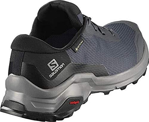 Salomon X Reveal GTX W, Zapatillas de Senderismo Mujer, Azul (Ebony/Black/Quiet Shade), 45 1/3 EU