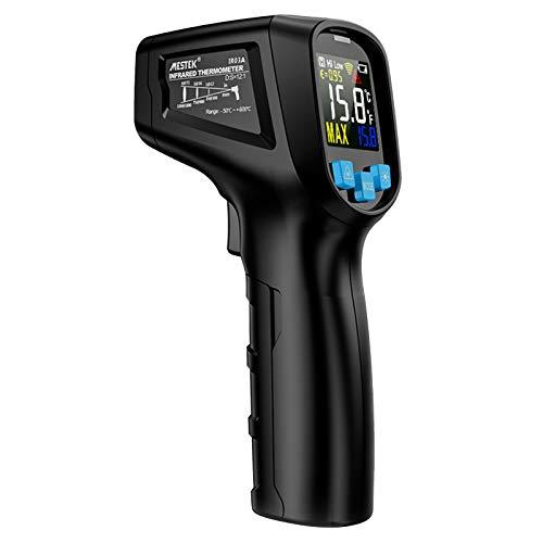 Kshzmoto -50~400 ℃ Termómetro infrarrojo LCD Digital sin Contacto portátil Probador de Temperatura IR Industrial Pirómetro con emisividad Ajustable