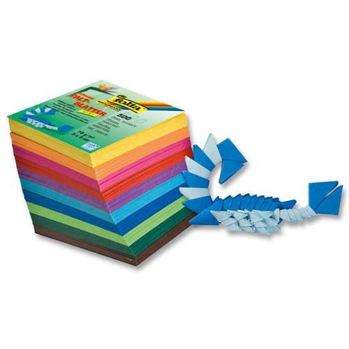 Faltblätter 'Mini', 500 Blatt, 10 Farben, 5x5cm [Spielzeug]