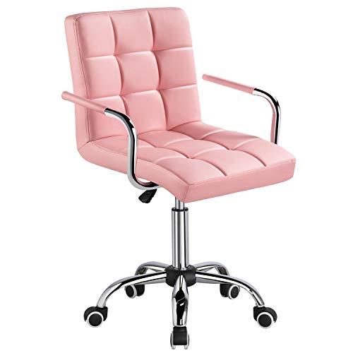 Yaheetech Bürostuhl Kunstleder Schreibtischstuhl Drehstuhl höhenverstellbar Chefsessel mit Laufrollen Bürosessel mit Armlehnen