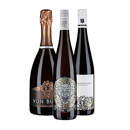 KERNenergie VON BUHLS BESTE (3 x 0,75l) – Trockene Weißweine und Sekt vom deutschen Winzer