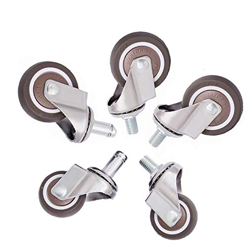 NBVCX Machinery Parts Office Chair Castors Wheel Furniture Caster TPE Rubber Replacement Wheels Non-Slip for Flatbed Cart Fish Tank Coffee Table Swivel Chair Crib Child Shelf 1.5in 2in(5 Pack) Sturdy
