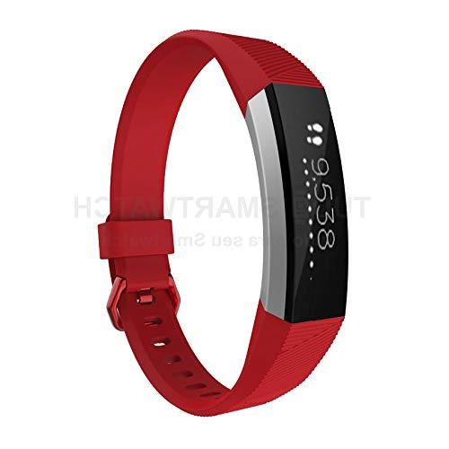 Pulseira de Silicone Vermelho para Relógio Fitbit Alta/Alta HR
