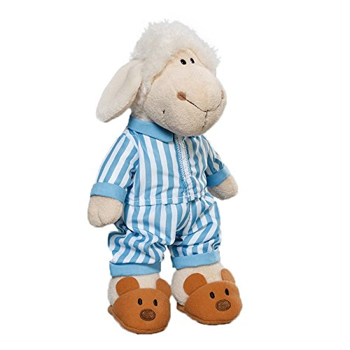 Nici 35499 - Dress Your Friends - Outfit Pyjama für 25 cm Puppen, gestreift, blau/weiß