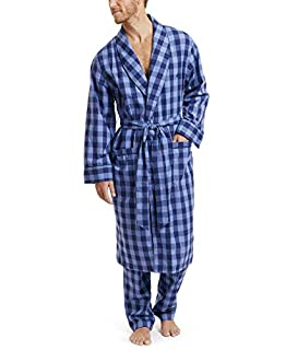 Image of Nautica Lightweight Woven Cotton Robe for Men - More Colors Available