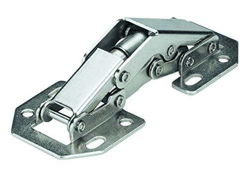 Hettich 9219932 Aufschraub-Federscharnier Mini-auch als Klappenscharnier verwendbar-Stahl, vernickelt, 10 STK