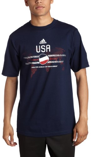 USA Country T-Shirt, Collegiate Navy/USA, Large