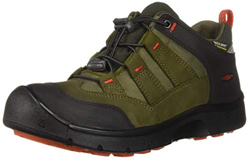 Chaussures de randonnée Keen Hikeport SS18 - Imperméables - Pour enfant - Vert - Martini Olive/Pureed Pumpkin, 35 EU