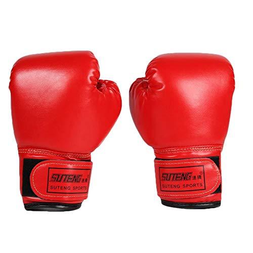 Everpert 2pcs Kinder Boxhandschuhe mit Klettschluss Klein Box-Handschuhe für Kinder von 3-2 Jahre Training Gloves (rot)
