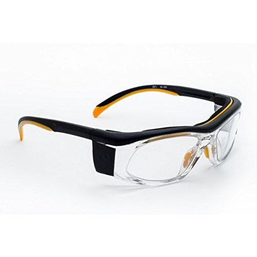 X-ray Radiation Protective Eyewear in the Wrap Safety Frame Which Offers Excellent Protection, Large Viewing Area, Adjustable Temple Bar and Built-in Side Shields.