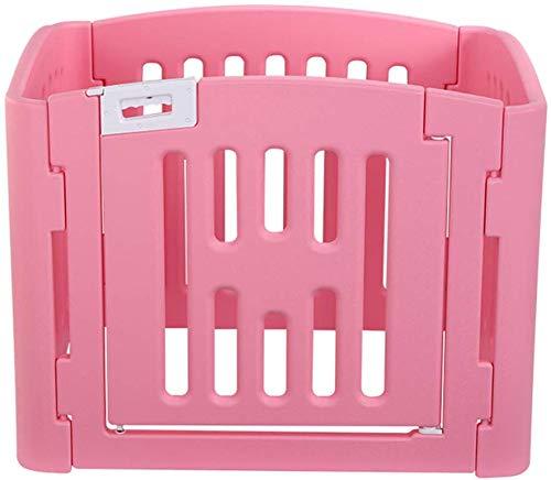 YLCJ Faltbarer Welpenlaufstall für Kaninchen Meerschweinchen Enten Kleintiere Welpenzaun Kunststofftürhof Innen Außen rosa