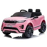 ATAA Range Rover Evoque 12v - Rosa - Coche de batería para niños Land Rover Range Rover Evoque con batería 12v