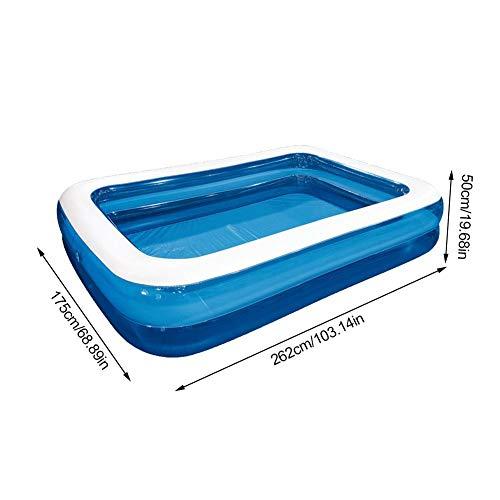 Josietomy - Piscina hinchable para niños, gruesa y ampliada, parque de agua para adultos, plegable interior y exterior, para la interacción de los padres y niños, 103,14 * 68,89 * 19,68 Zoll