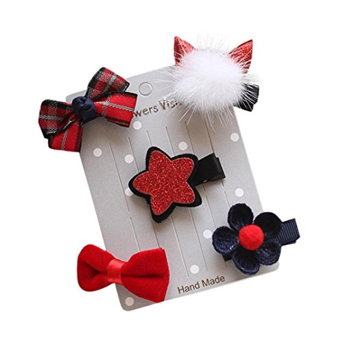 K-youth® 5pcs niños horquilla infantil bebé flor arco barrettes estrella pinza de pelo lazos para el pelo clips...