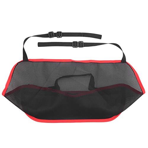 ROMACK Accesorios para el Interior del automóvil Entre los Asientos Soporte de Bolsillo de Red para automóvil Universal para Uso en automóvil(Black Red Edge)