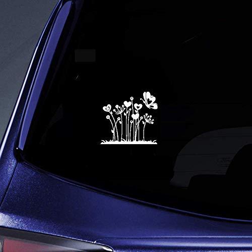 Dkisee kreatives Design Blume Schmetterling Tanz Auto Aufkleber Vinyl Motorrad Truck Auto Stoßstange Fenster Spiegel Wand Aufkleber Laptop Decal 15,2 cm