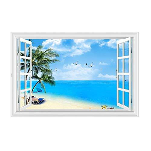 Adhesivos de pared de PVC autoadhesivos de pared 3D papel pintado de pared 60 x 90 cm autoadhesivo para ventana, habitación, salón, oficina, decoración