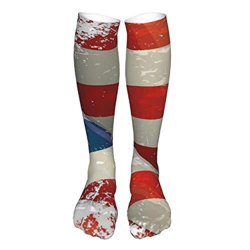 LLOOP 3D estilo vintage grueso cálido invierno bandera americana aleteo calcetines casual calcetines para mujeres y hombres