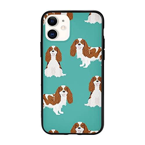 Cavalier King Charles Spaniel Blenheim Simple Dog Turchese Compatibile con IPhone 11 Pro Max-6.5 Custodie, Antiscivolo TPU Custodia Protettiva Cellulare Cover per Donne Uomini Ragazze Regalo