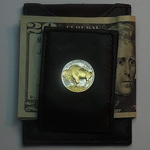 buffalo nickel money clip - 8