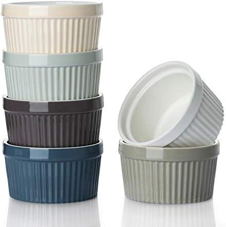 DOWAN Ramekins 8 oz Oven Safe Creme Brulee Ramekins for Baking Porcelain Ramekins Oven Safe product image