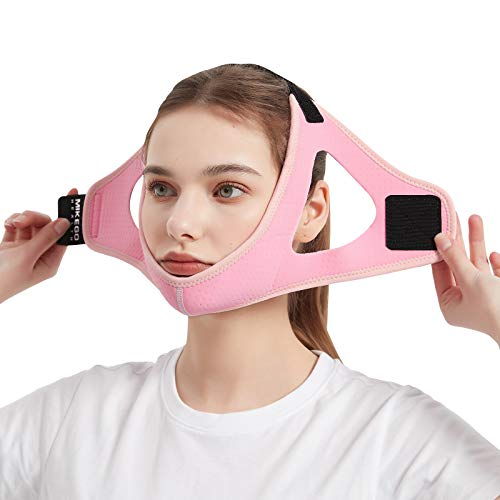 Anti Snoring Devices Adjustable Chin Strap for CPAP Users and Mouth Breathers - Advanced Solution Stop Snore Sleep Aid for Women and Men by Mikegohealth (Pink)