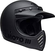 BELL Moto-3 Helmet (Matte/Gloss Blackout - X-Large)