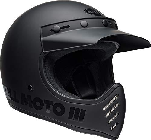 Bell Moto-3 Off-Road Motorcycle Helmet (Classic Matte/Gloss Blackout, Medium)