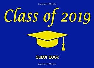 Class of 2019 Guest Book (Graduation Cap & Tassel - Blue & Yellow)